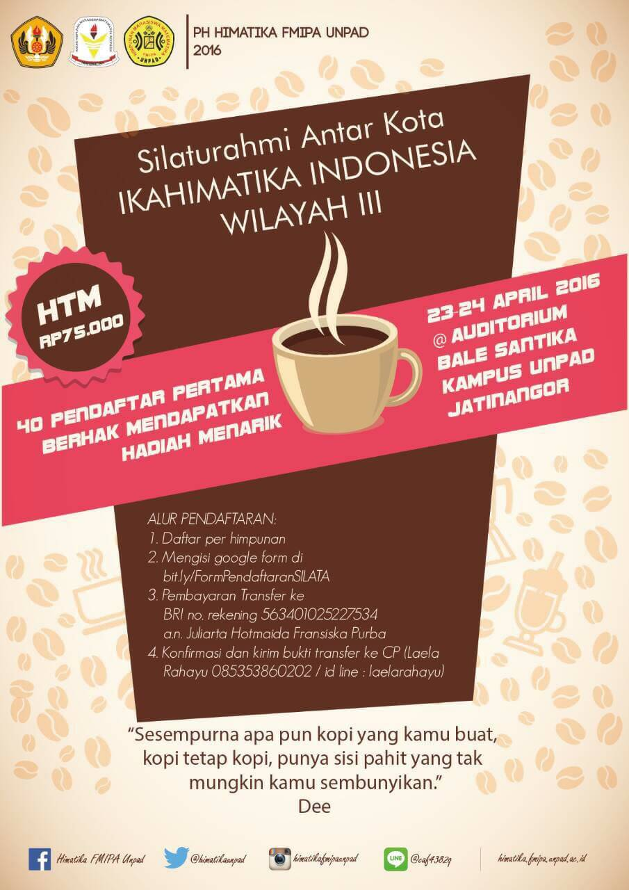 Here We Go! : Silata IKAHIMATIKA INDONESIA Wilayah III Is Coming