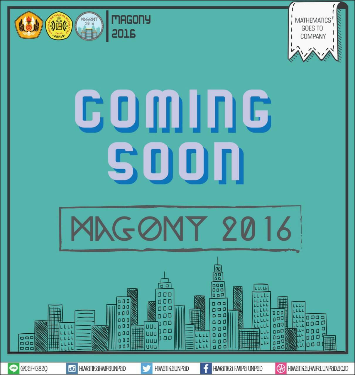 Coming Soon : Mathematics Goes to Company 2016